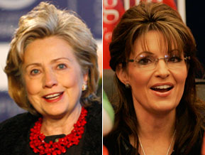 2008 election – Hillary Clinton and Sarah Palin