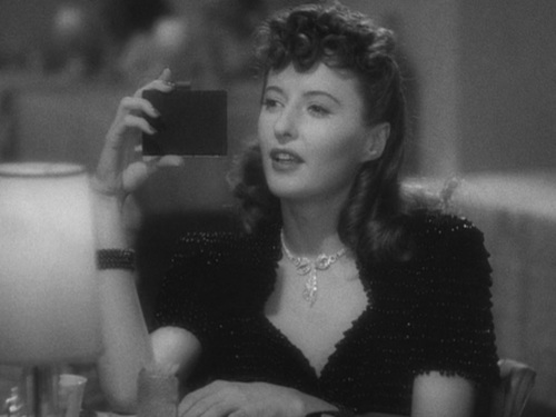 "Barbara Stanwyck in ""The Lady Eve"""