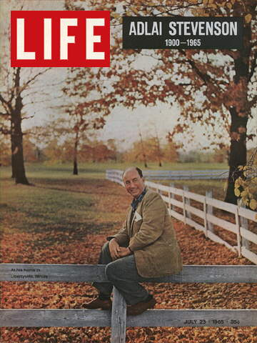 Adlai Stevenson on the cover of Life.