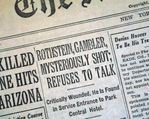 Arnold Rothstein Death