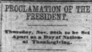 Lincoln And Thanksgiving Proclamation