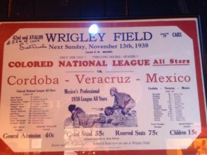 Wrigley Field Mentioned at Negro Leagues Baseball Museum