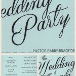 Wedding Invitation for a Wedding Ceremony Performed by Wedding Officiant Barry Bradford