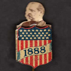 Grover Cleveland campaign button
