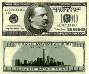 Grover Cleveland - $1000 Bill