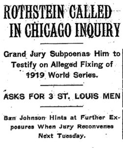 Arnold Rothstein – 1919 World Series