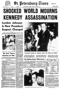 Who killed JFK – newspaper headline