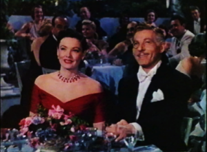 Danny Kaye and Gene Tiereney from a scene from the movie On The Riviera