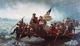 image of george washington crossing the delaware in a boat