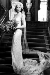 Gene Tiereny Wedding Dress In The Razor's Edge
